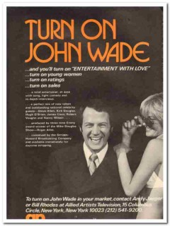 allied artists television 1973 turn on john wade tv media vintage ad