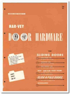 American Screen Products Company 1958 Vintage Catalog Door Hardware