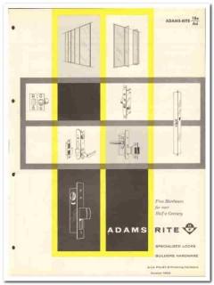 Adams-Rite Mfg Company 1958 Vintage Catalog Specialized Locks Hardware