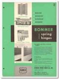 Bommer Spring Hinge Company 1958 Vintage Catalog Checking Floor Butt
