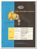 American Hardware Corp 1958 Vintage Catalog PF Corbin Locks Fixtures