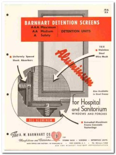 A W Barnhart Company 1958 Vintage Catalog Windows Detention Screens