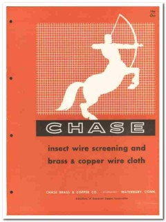 Chase Brass Copper Company 1958 Vintage Catalog Screening Wire Cloth