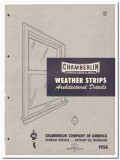 Chamberlin Company 1958 Vintage Catalog Weather Strips Windows Doors