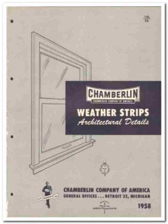 Chamberlin Company 1958 Vintage Catalog Weather Strips Windows Doors