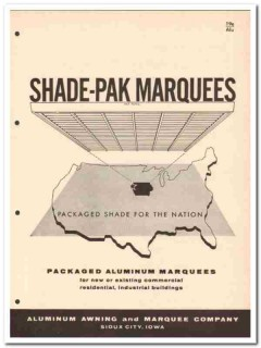 Aluminum Awning Marquee Company 1958 Vintage Catalog Window Shade-Pak