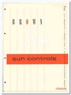 Brown Mfg Company 1958 Vintage Catalog Window Sun Controls Exterior