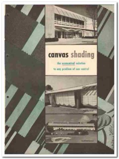 Canvas Awning Institute Inc 1958 Vintage Catalog Shading Sun Control
