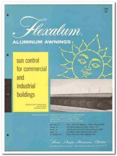 Bridgeport Brass Company 1958 Vintage Catalog Awning Aluminum Flexalum