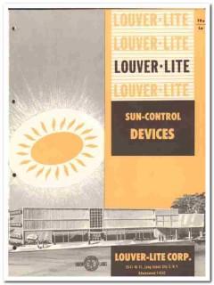 Louver-Lite Corp 1958 Vintage Catalog Sun Control Devices Jalousies