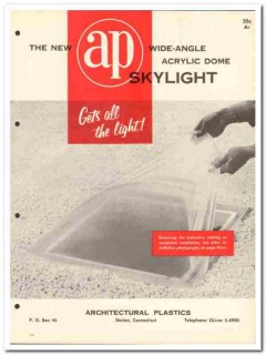 Architectural Plastics Inc 1958 Vintage Catalog Skylight Acrylic Dome