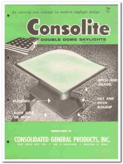 Consolidated General Products 1958 Vintage Catalog Skylights Consolite