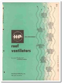 Hirschman-Pohle Company 1958 Vintage Catalog Ventilators Exhaust Roof
