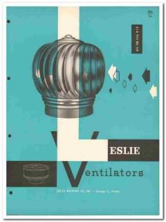 Leslie Welding Company 1958 Vintage Catalog Ventilators Rotary Turbine