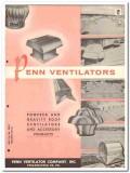 Penn Ventilator Company 1958 Vintage Catalog Roof Exhausters Domex