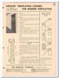 Airolite Company 1958 Vintage Catalog Ventilating Louvers Doors Walls