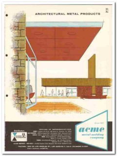 Acme Metal Molding Company 1958 Vintage Catalog Architectural Products