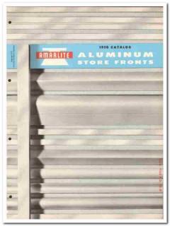 American Art Metals Company 1958 Vintage Catalog Store Fronts Amarlite