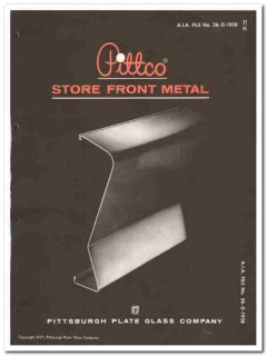 Pittsburgh Plate Glass Company 1958 Vintage Catalog Store Front Metal