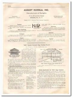 August Kuhnla Inc 1933 Vintage Catalog Roof Skylights Kupe Ventilators