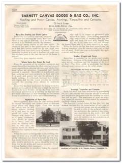 Barnett Canvas Goods Bag Company 1933 Vintage Catalog Roof Barco-Dex