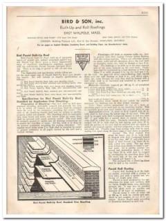 Bird Son Inc 1933 Vintage Catalog Roofing Asphalt Paroid Built-Up Roll