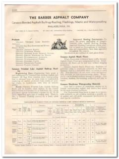 Barber Asphalt Company 1933 Vintage Catalog Roofing Built-Up Flooring