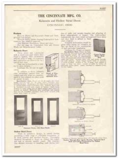 Cincinnati Mfg Company 1931 Vintage Catalog Door Kalamein Hollow Metal