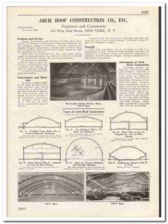 Arch Roof Construction Company 1931 Vintage Catalog Roofing Contractor