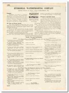 Hydroseal Waterproofing Company 1931 Vintage Catalog Penetrite Coating