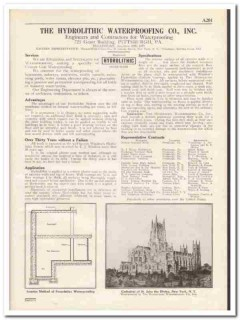 Hydrolithic Waterproofing Company 1931 Vintage Catalog Cement Coating