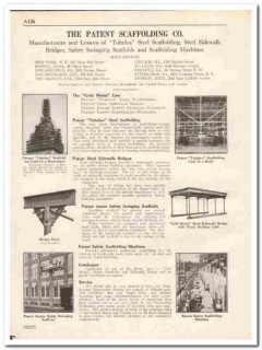Patent Scaffolding Company 1931 Vintage Catalog Steel Sidewalk Bridge