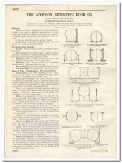 Atchison Revolving Door Company 1931 Vintage Catalog Wings Enclosures