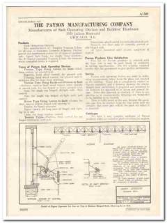 Payson Mfg Company 1931 Vintage Catalog Windows Sash Operating Devices