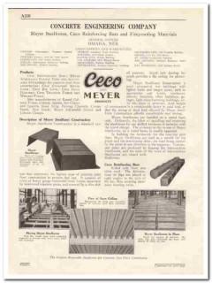 Concrete Engineering Company 1931 Vintage Catalog CECO Meyer Bars Lath