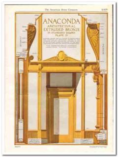 American Brass Company 1931 Vintage Catalog Anaconda Extruded Bronze