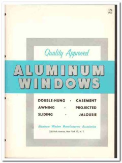American Window Mfrs Association 1962 Vintage Catalog Casement Sliding