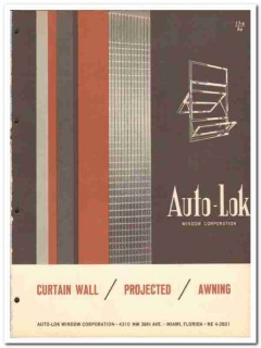 Auto-Lok Window Corp 1962 Vintage Catalog Curtain Wall Projected