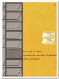 Brown Grist Inc 1962 Vintage Catalog Windows Aluminum Awning Sash