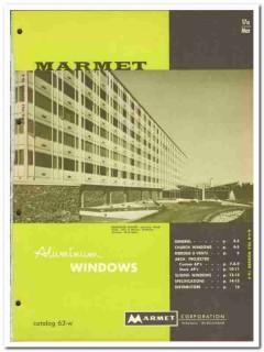 Marmet Corp 1962 Vintage Catalog Windows Aluminum Projected Sliding