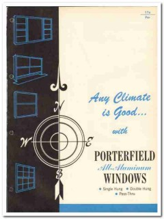 Porterfield Industries Inc 1962 Vintage Catalog Windows All-Aluminum