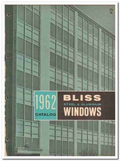 Bliss Steel Products Corp 1962 Vintage Catalog Windows Aluminum
