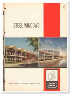 Ceco Steel Products Corp 1962 Vintage Catalog Windows Industrial