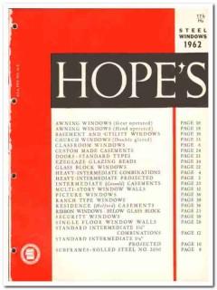 Hopes Windows Inc 1962 Vintage Catalog Steel Awning Basement Casement