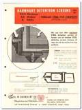 A W Barnhart Company 1962 Vintage Catalog Windows Detention Screens