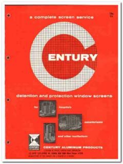 Artistic Venetian Blind Corp 1962 Vintage Catalog Century Aluminum