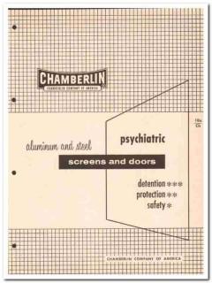 Chamberlin Company 1962 Vintage Catalog Windows Screens Psychiatric