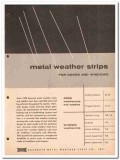 Accurate Metal Weather Strip Company 1962 Vintage Catalog Door Windows