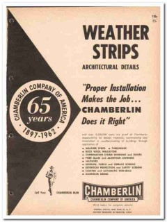 Chamberlin Company 1962 Vintage Catalog Weather Strips Windows Doors