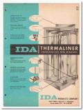 Ida Products Company 1962 Vintage Catalog Window Thermaliner